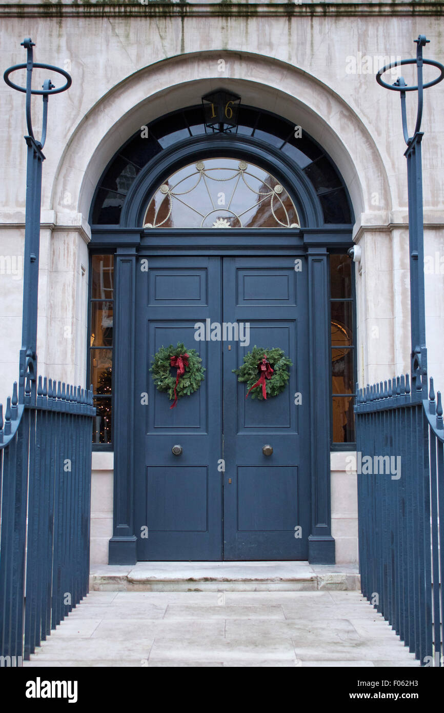 Grande porta blu Immagini Stock