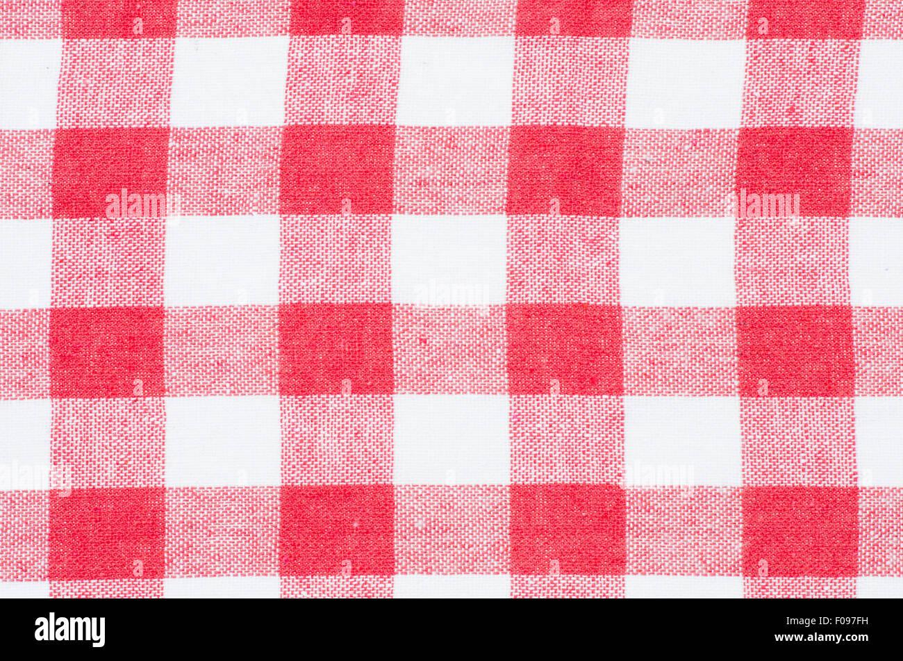 A Quadretti Rossi E Bianchi Asciugamano Da Cucina Texture Di Sfondo