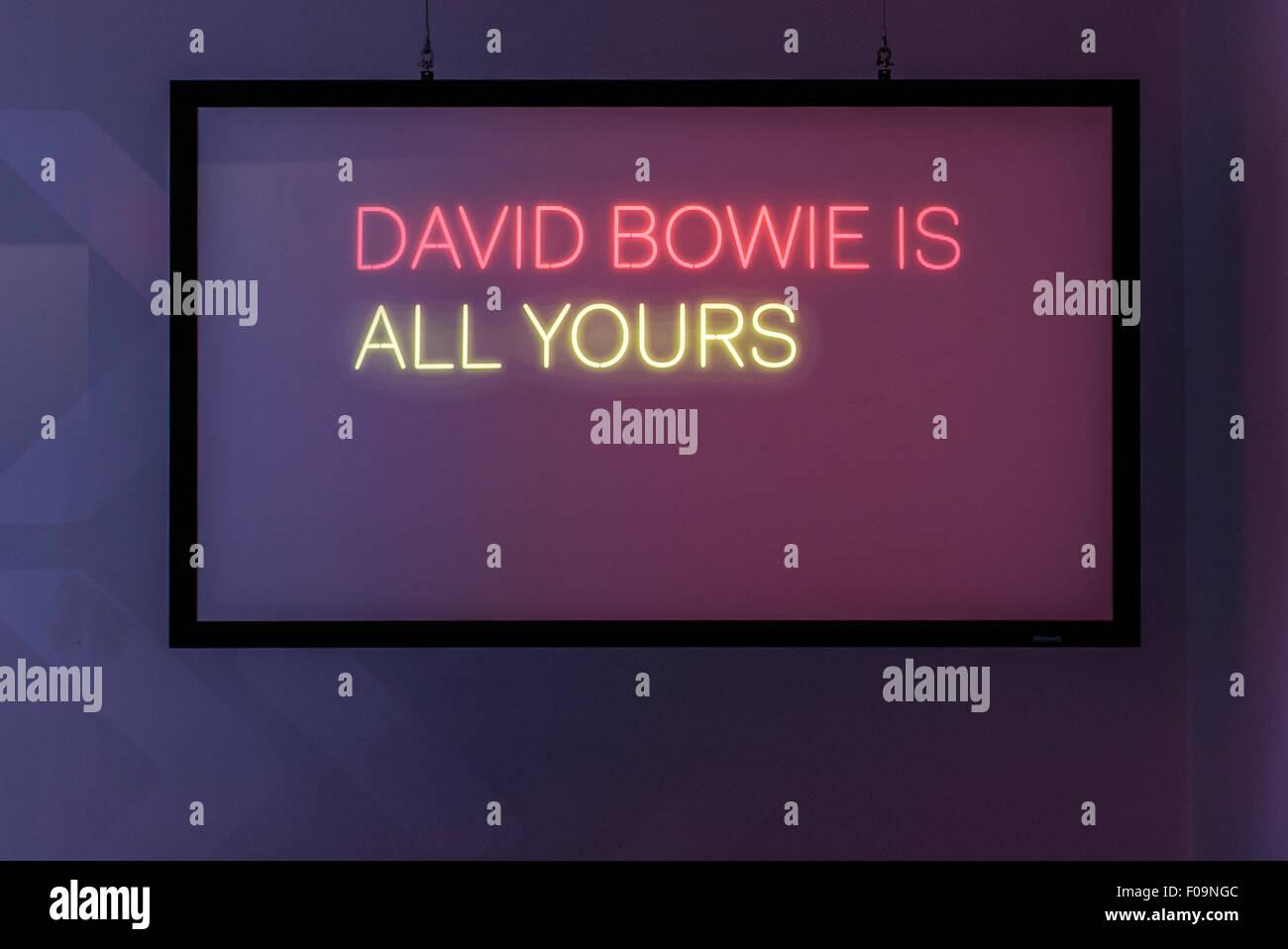V&A David Bowie è in mostra a ACMI, Melbourne, Australia Immagini Stock