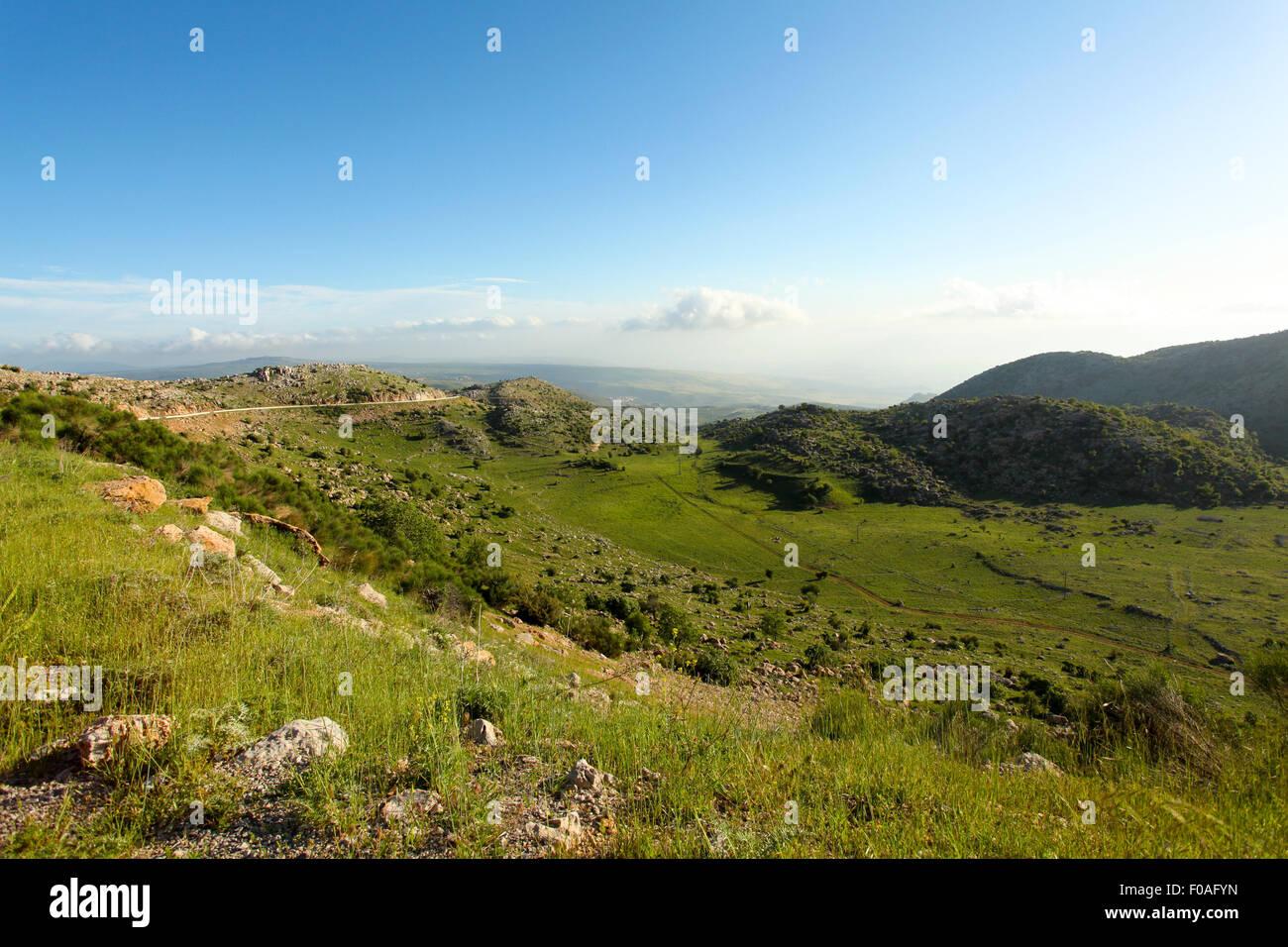 Alture del Golan paesaggio Immagini Stock