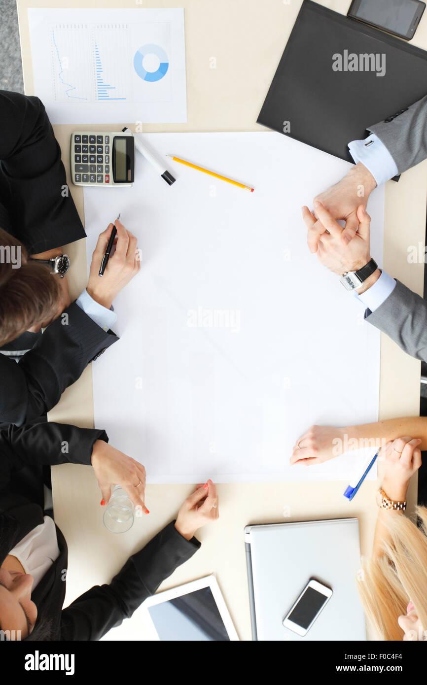 La gente di affari sulla riunione Immagini Stock
