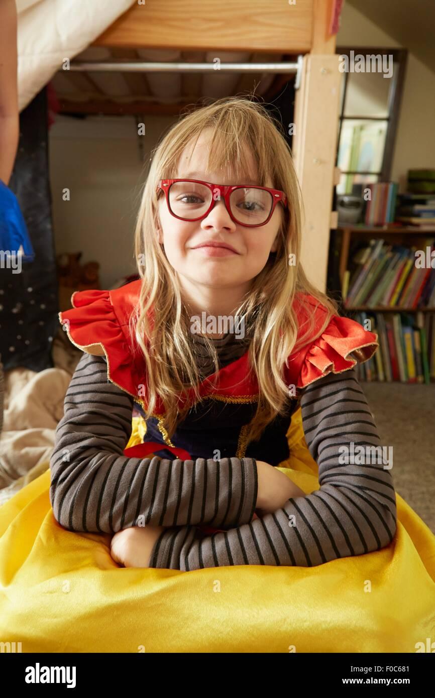 Ritratto di giovane ragazza in fancy dress costume Immagini Stock