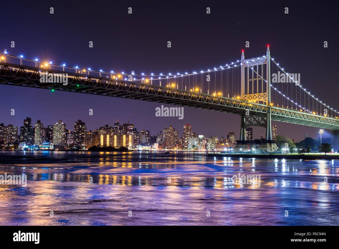 Ed Koch Queensboro bridge in New York City guardando verso Manhattan Immagini Stock