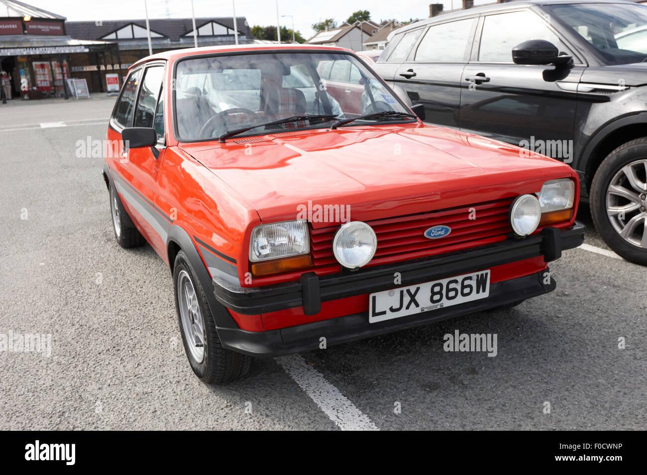 Prima generazione Ford Fiesta mk1 super sport anglesey north Wales UK Immagini Stock