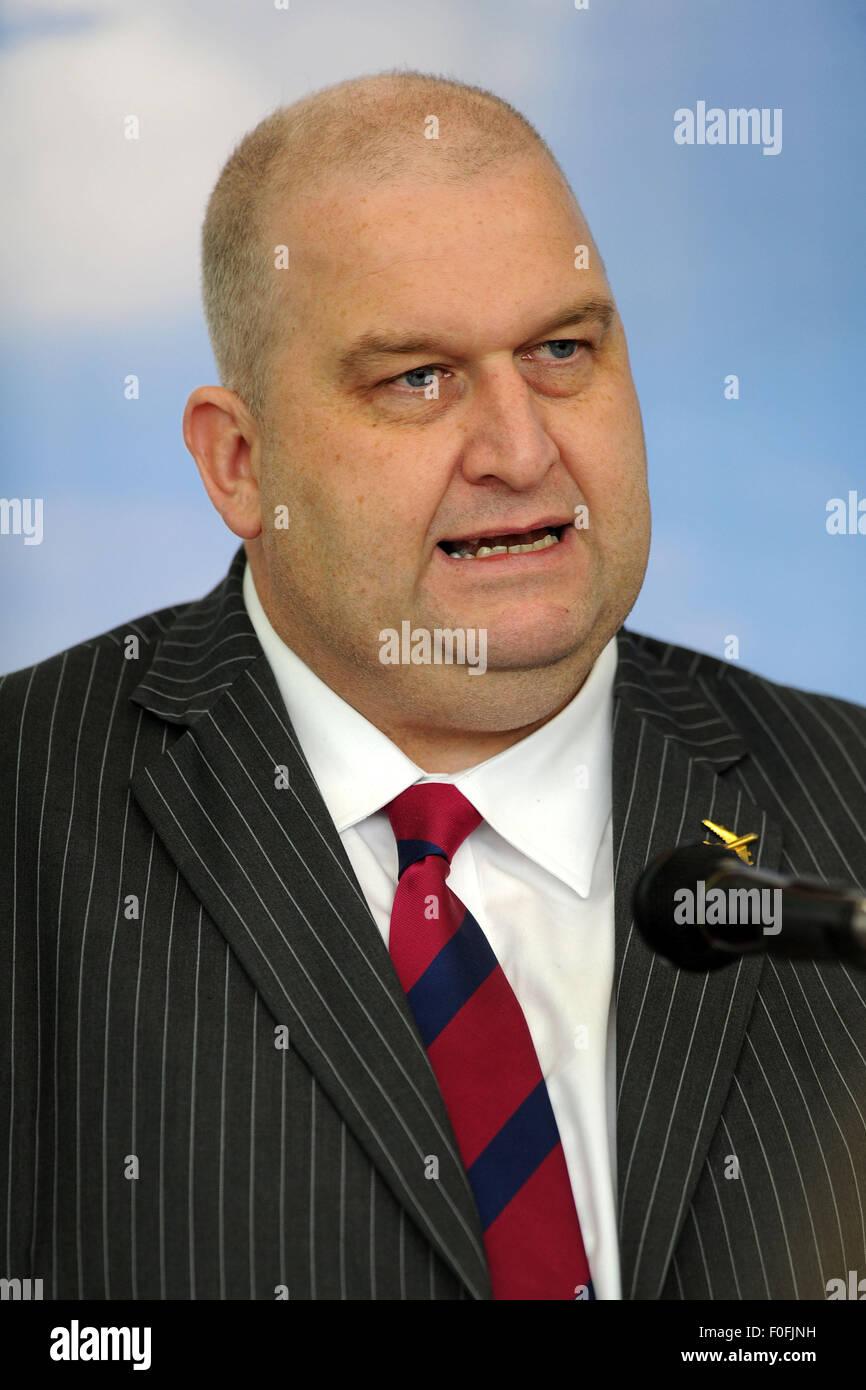 Carl Sargeant AM per Alyn e Deeside nel Galles del Nord e ministro per le risorse naturali. Immagini Stock