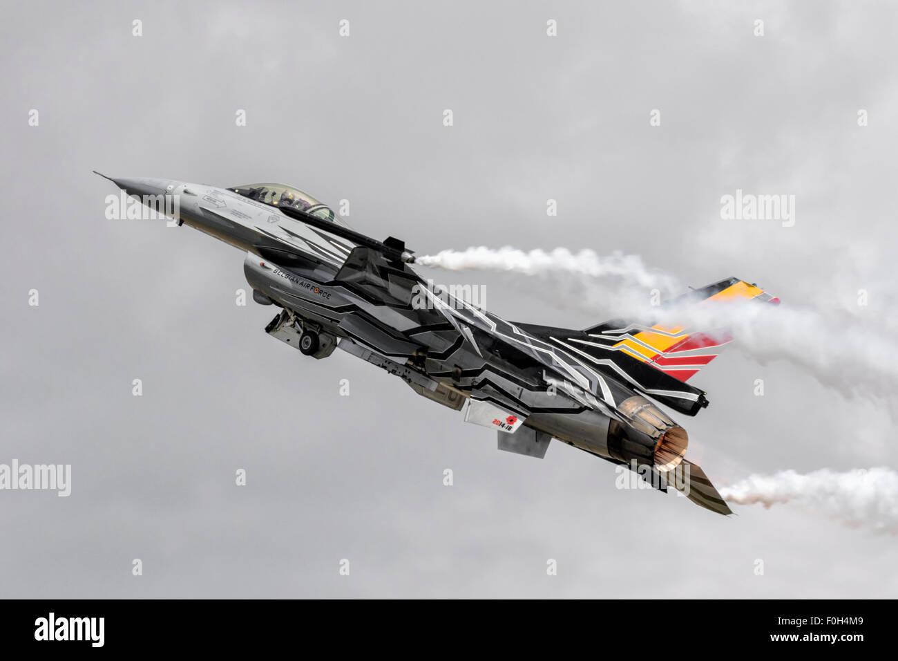 General Dynamics F16 Fighting Falcon belga della Air force Foto Stock