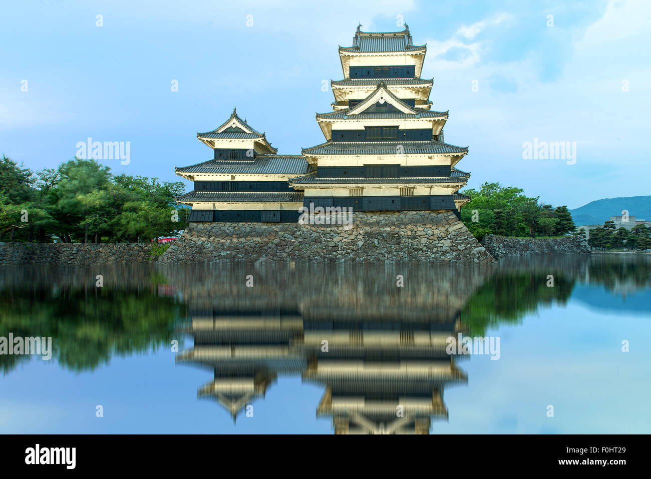 Il Castello Matsumoto a Matsumoto, Giappone Immagini Stock