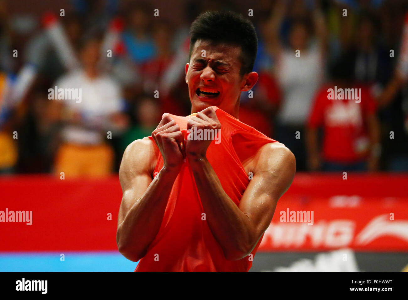 Istora Senayan Arena, Jakarta, Indonesia. 16 Ago, 2015. Chen lungo (CHN), 16 agosto 2015 - Badminton : TOTALE BWF Immagini Stock
