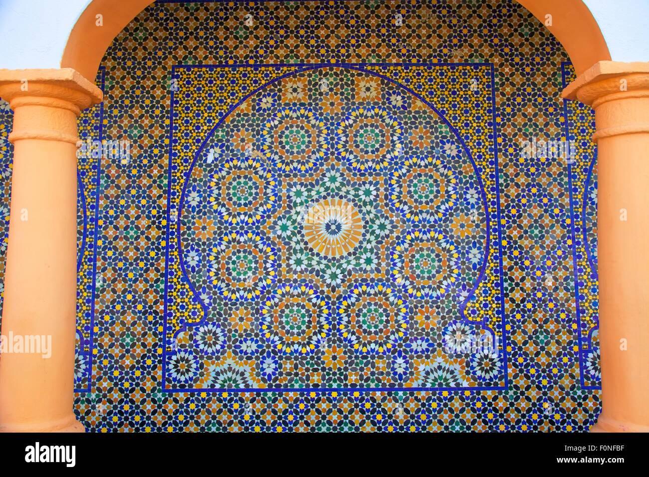 In piastrelle decorative a parete rabat marocco africa del nord
