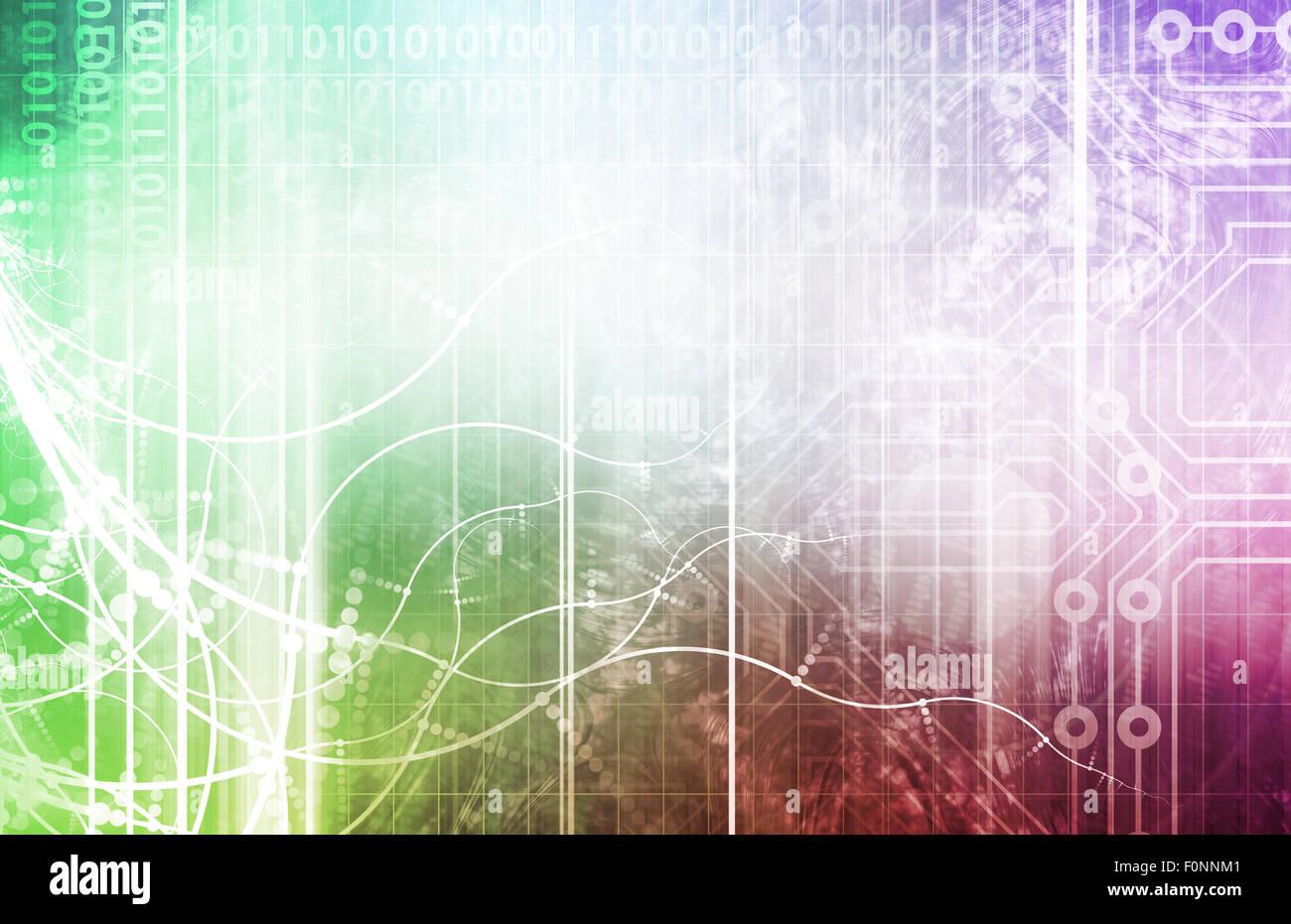 La biotecnologia del futuro astratto come arte Immagini Stock
