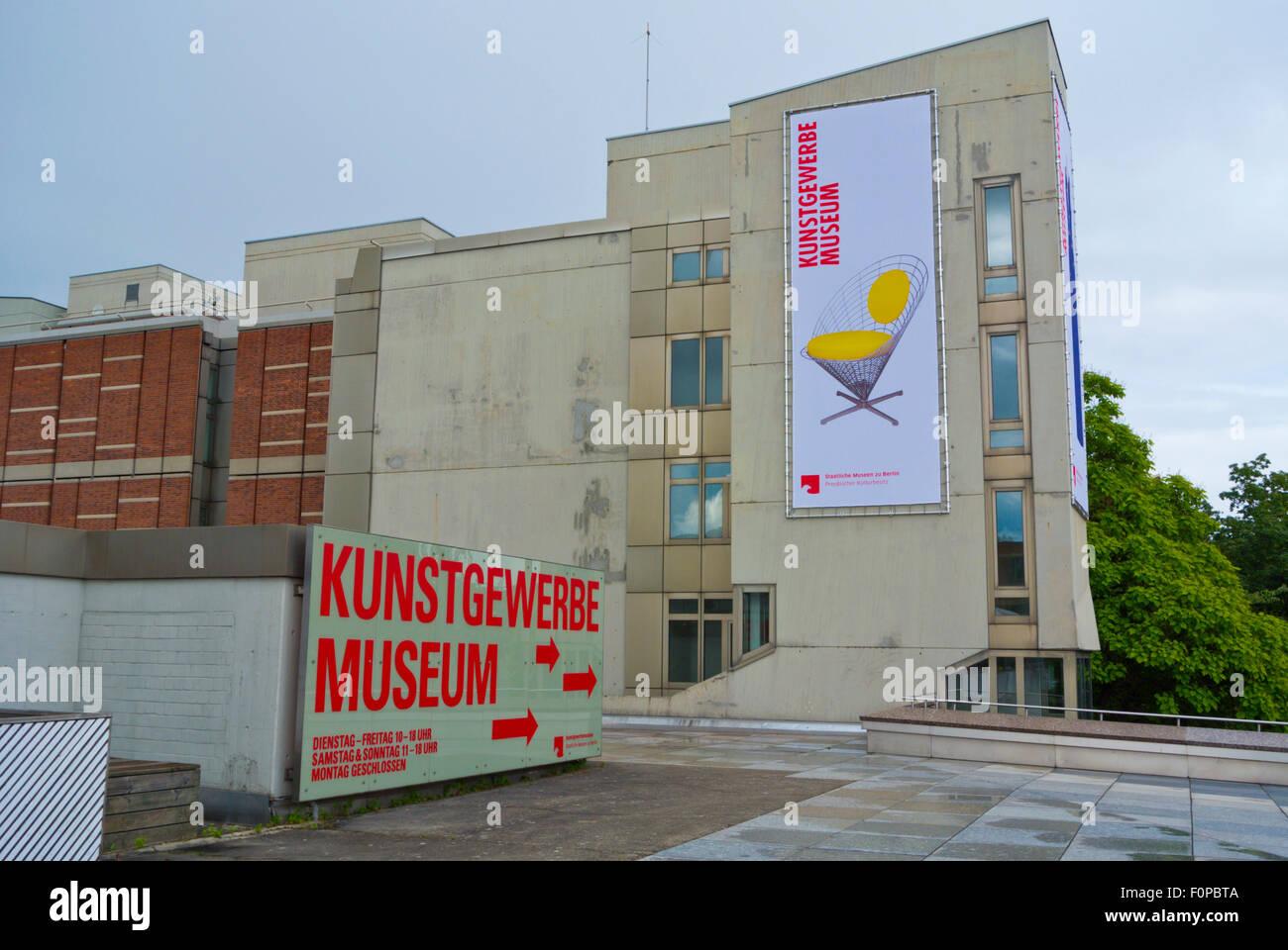 Kunstgewerbemuseum, Museo di Arti Decorative, Matthäikirchplatz, nel quartiere Mitte di Berlino, Germania Immagini Stock