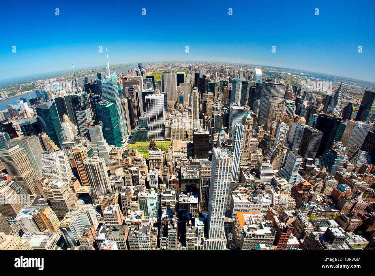 New York skyline della città Immagini Stock