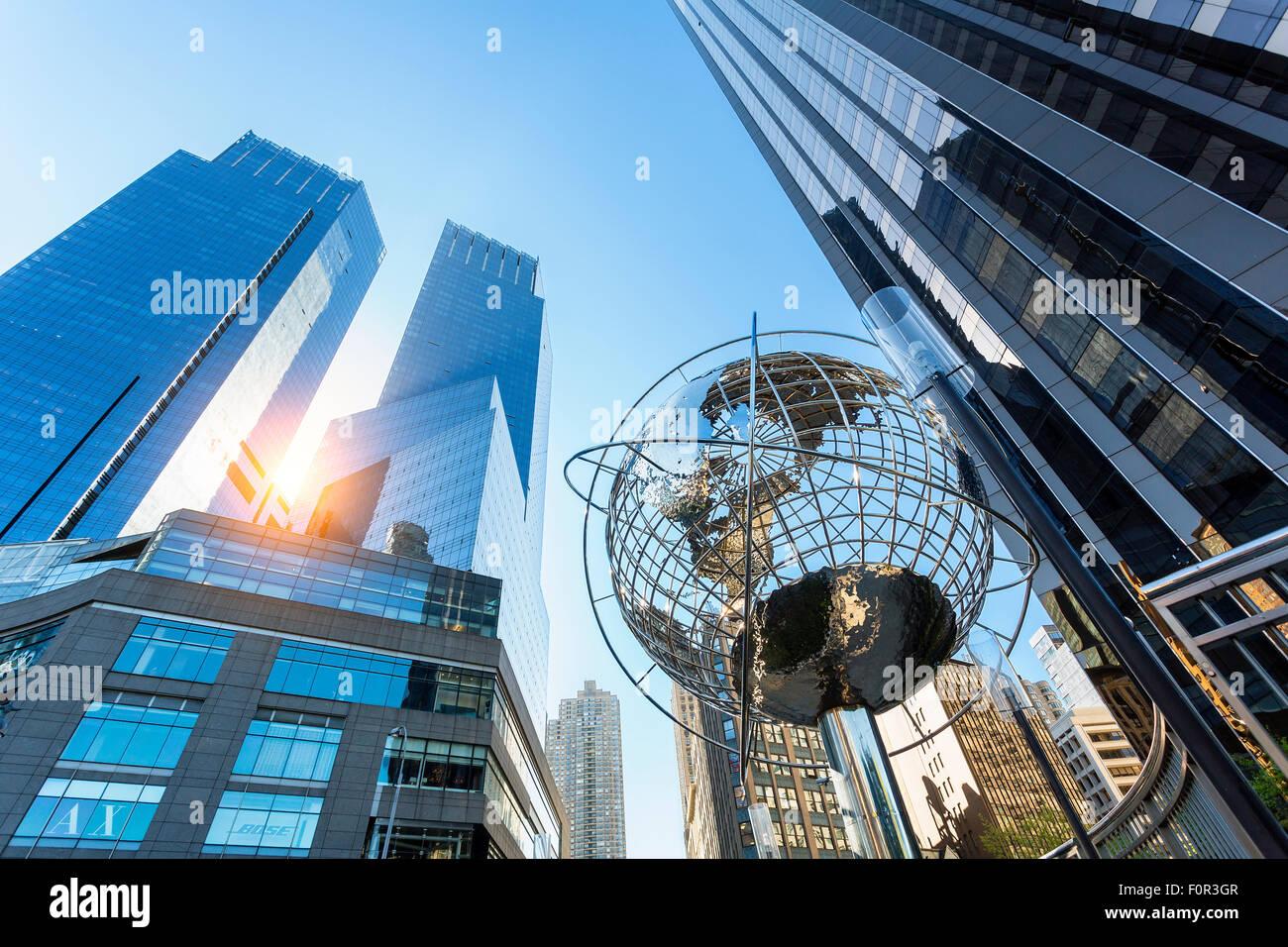 Columbus Circle Time Warner Center di New York City Immagini Stock