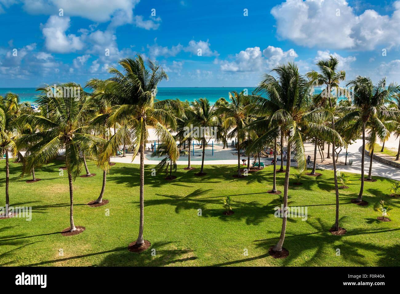 Miami, Lummus Park Immagini Stock