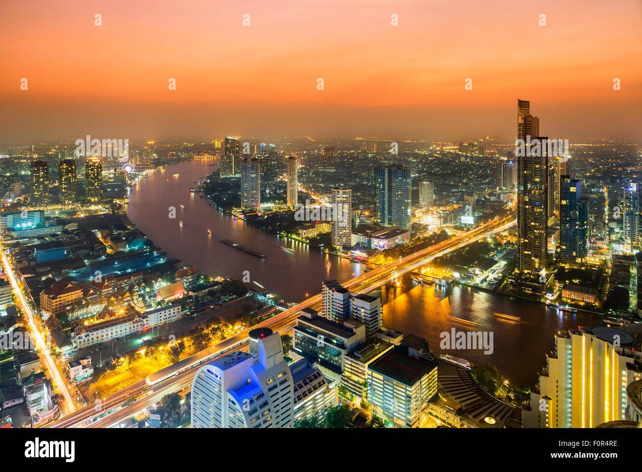 Thailandia, Bangkok skyline Immagini Stock
