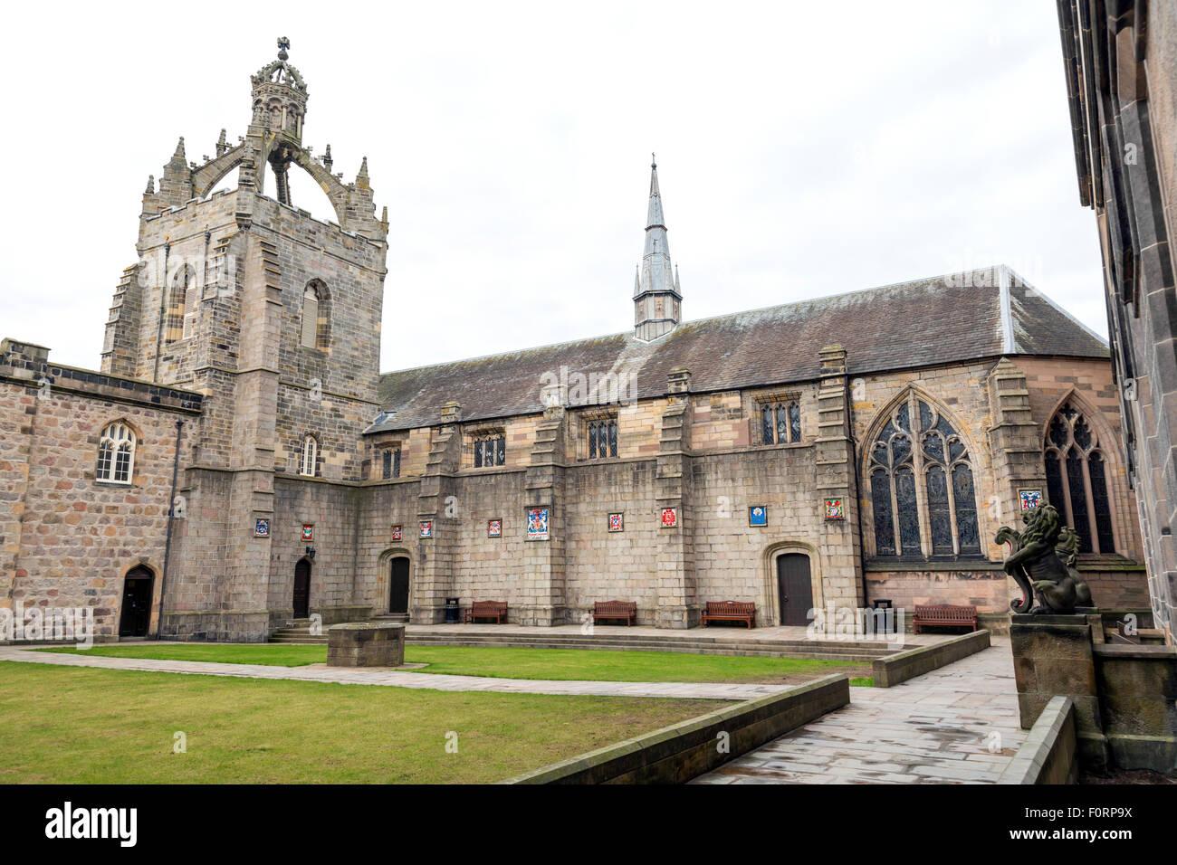 Un quadrangolo al King's College, Università di Aberdeen, Scozia, Regno Unito Foto Stock