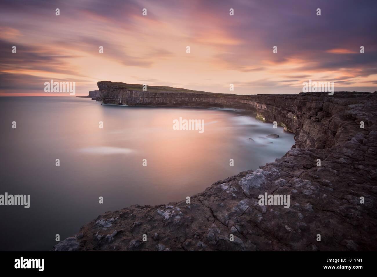 Costa, Inishmore, Isole Aran, Irlanda Immagini Stock