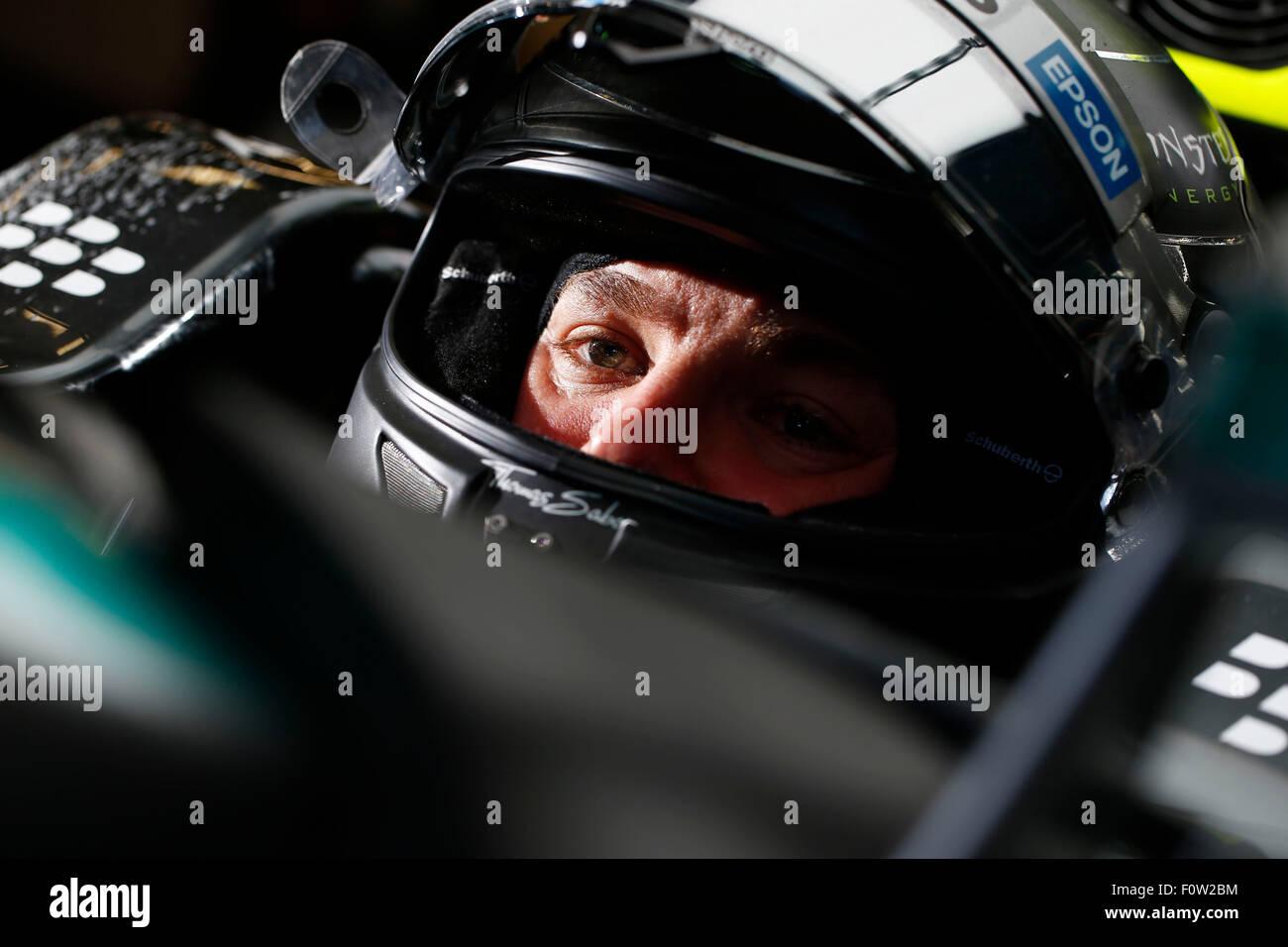 Circuito di Spa-Francorchamps, Belgio. 21 Ago, 2015. Motorsports: FIA Formula One World Championship 2015, il Gran Immagini Stock