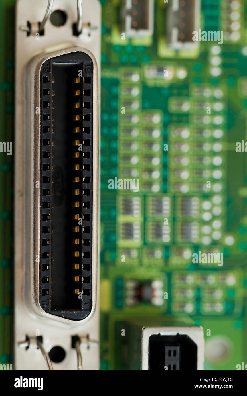 Bidirezionale standard per stampante parallela porta del connettore Foto Stock