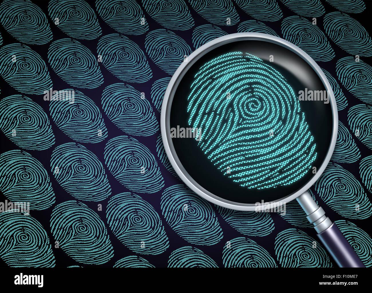 La ricerca di identità di un concetto o la scelta del dipendente come il reclutamento e la risorsa umana simbolo Immagini Stock