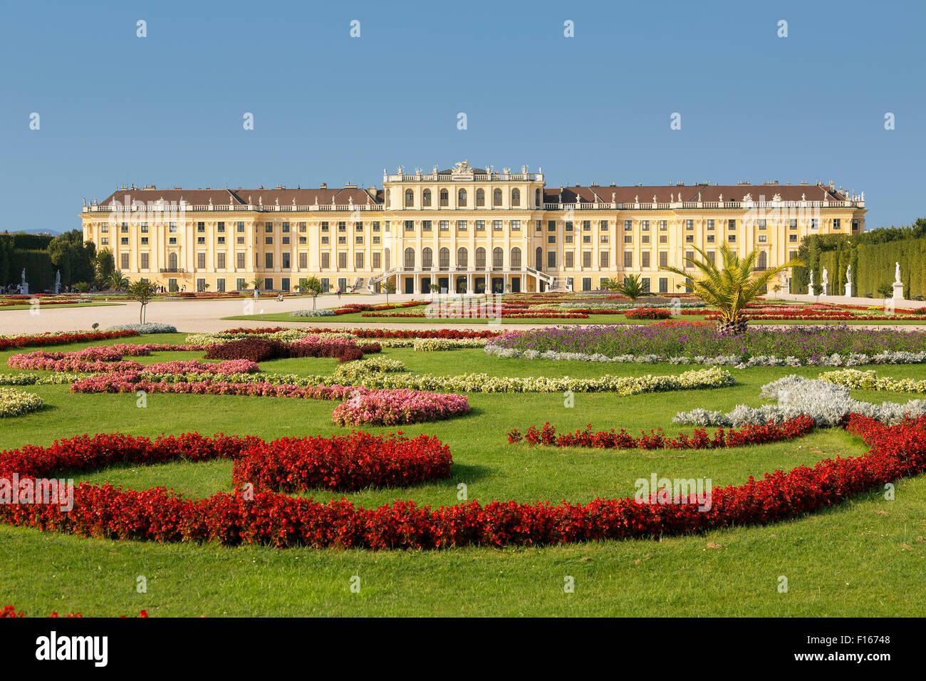 Palazzo di Schonbrunn, Vienna Immagini Stock