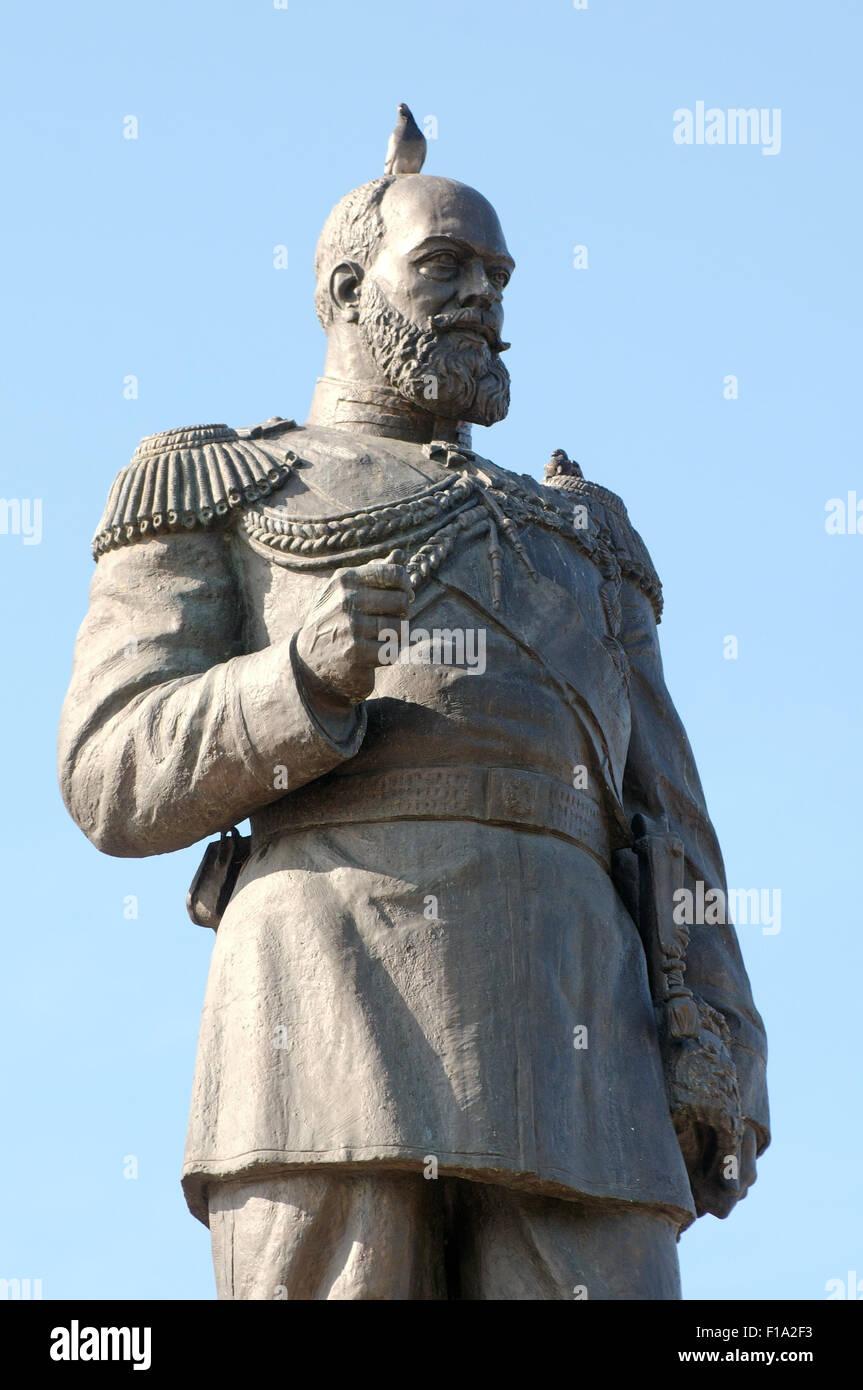 Irkutsk, Siberia, Russia. Il 26 settembre, 2009. Alexander III l'imperatore di Russia il monumento in bronzo nel centro storico della città. Irkutsk, Siberia, Federazione russa © Andrey Nekrasov/ZUMA filo/ZUMAPRESS.com/Alamy Live News Foto Stock