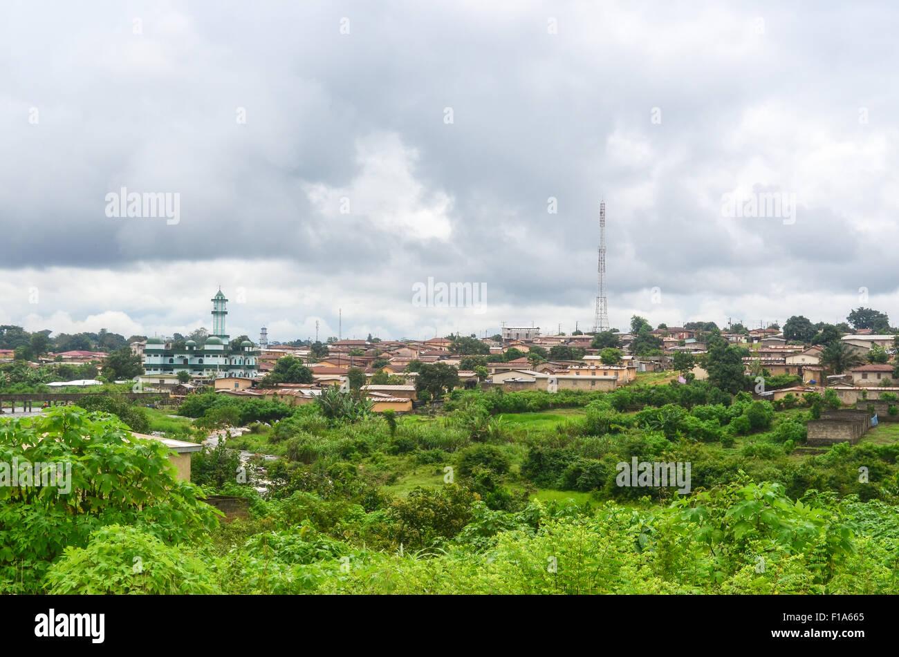 Città di Danane, Costa d'Avorio Immagini Stock