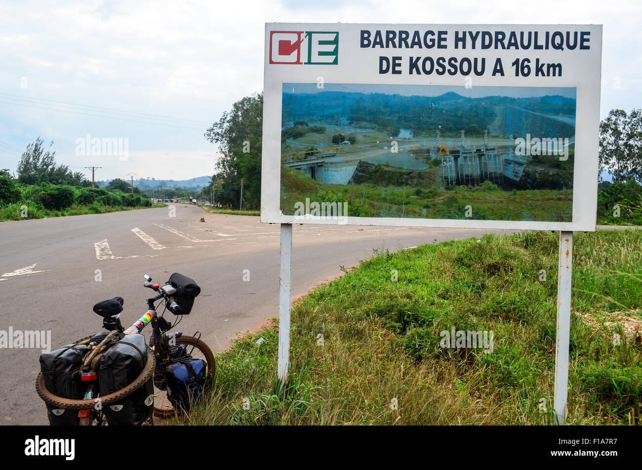 Kossou centrale idroelettrica, Costa d'Avorio Immagini Stock