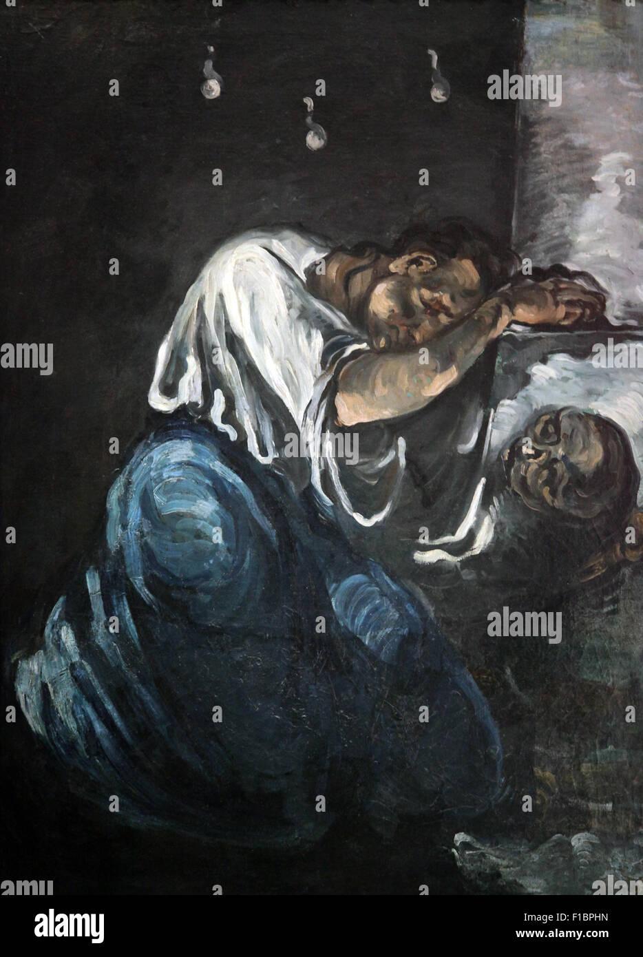 La Madeleine o il dolore la madeleine ou la douleur 1869 di Paul Cezanne 1839-1906 Foto Stock