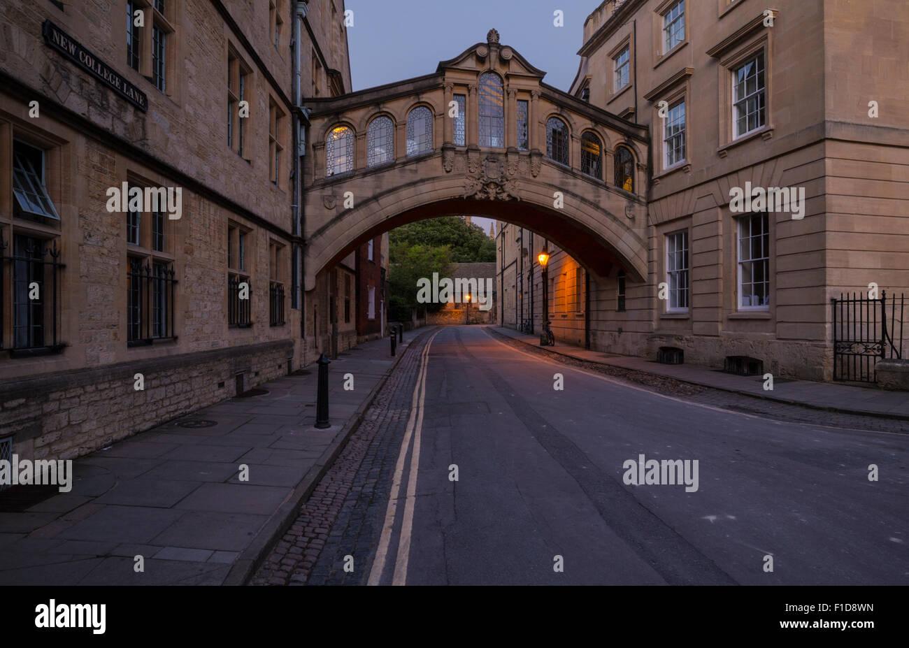 Il Ponte dei Sospiri di Oxford Immagini Stock