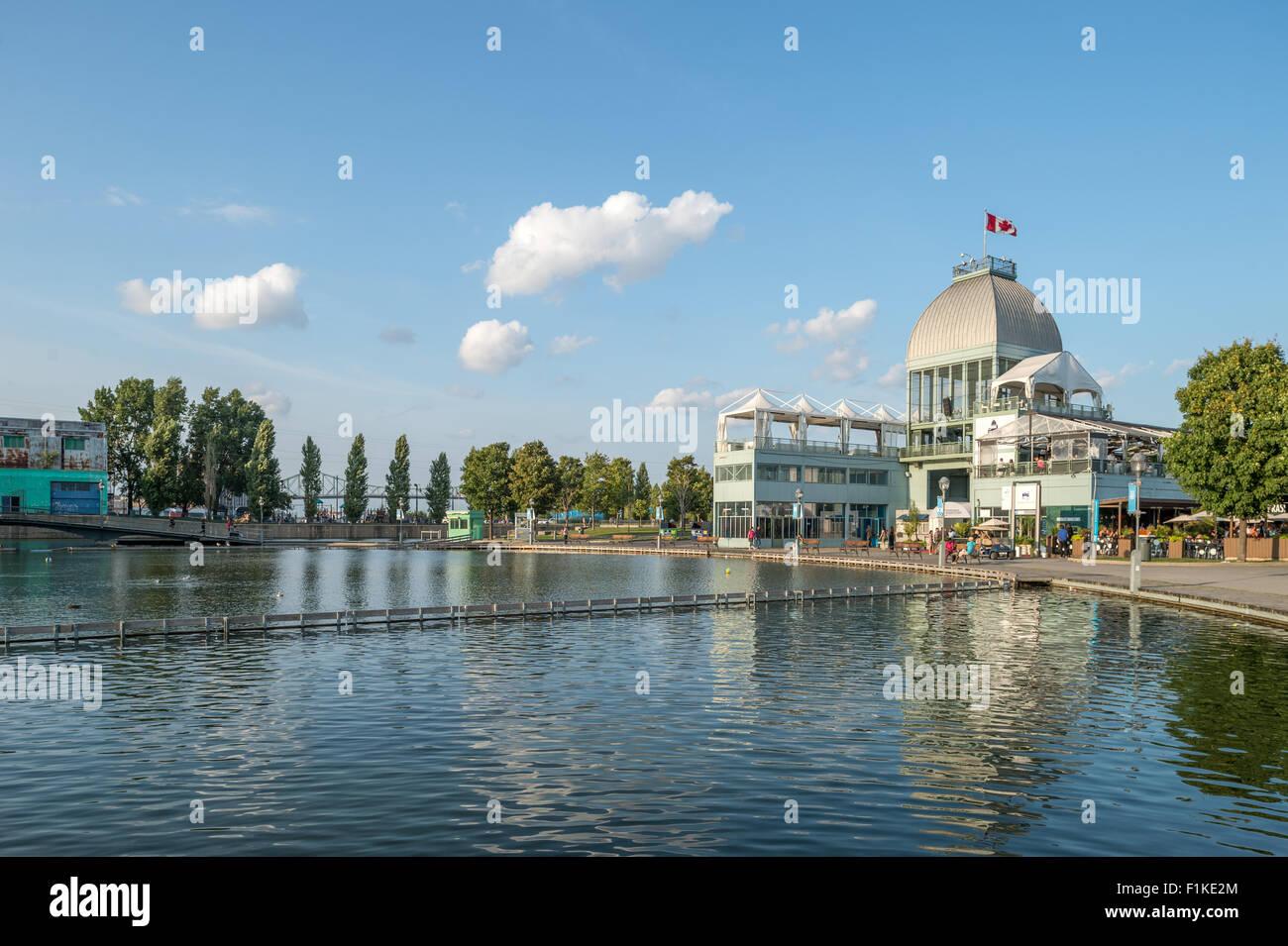 Padiglione presso Bonsecours bacino, il Vecchio Porto di Montreal, Canada Immagini Stock