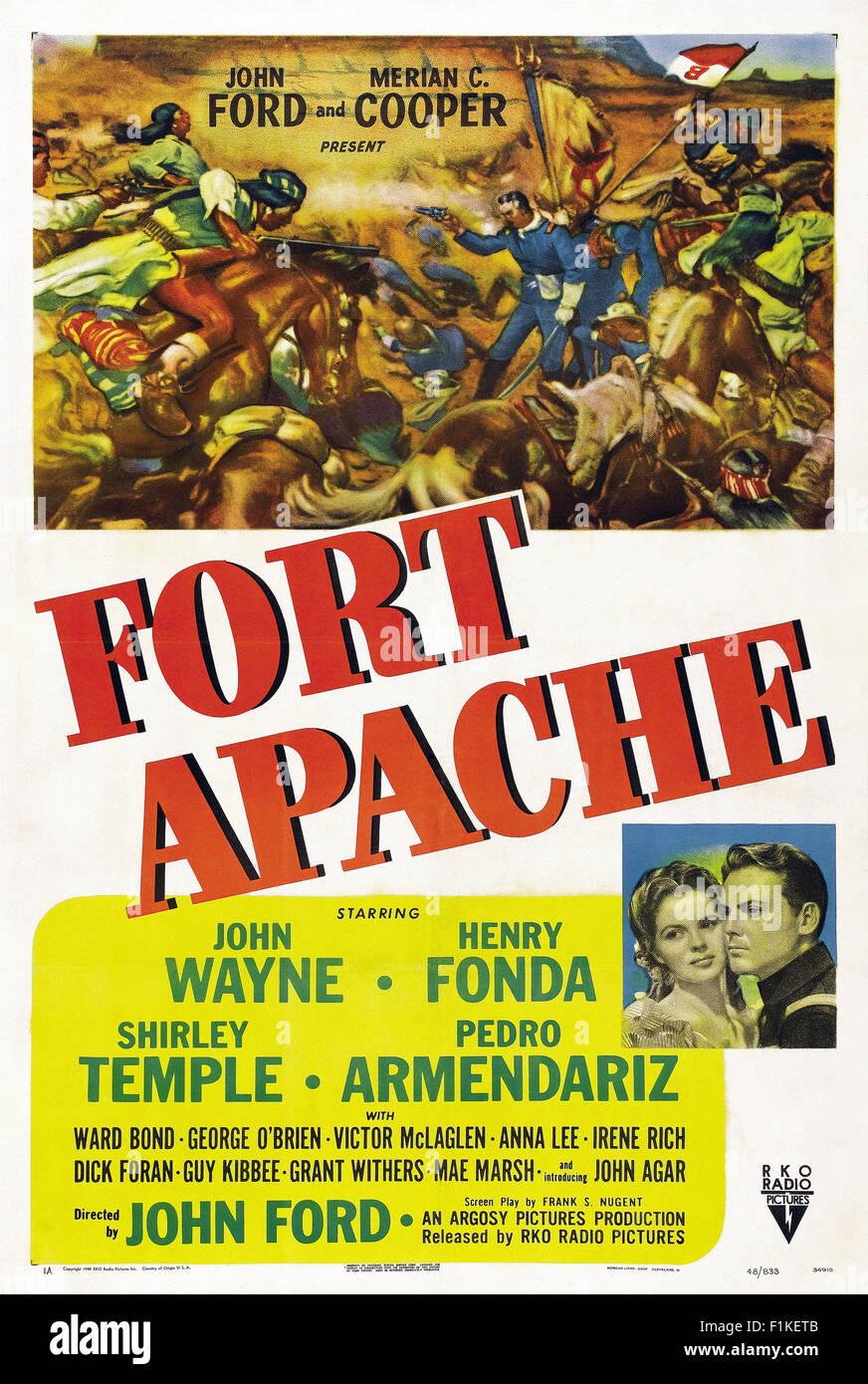 Fort Apache 001 - poster del filmato Immagini Stock