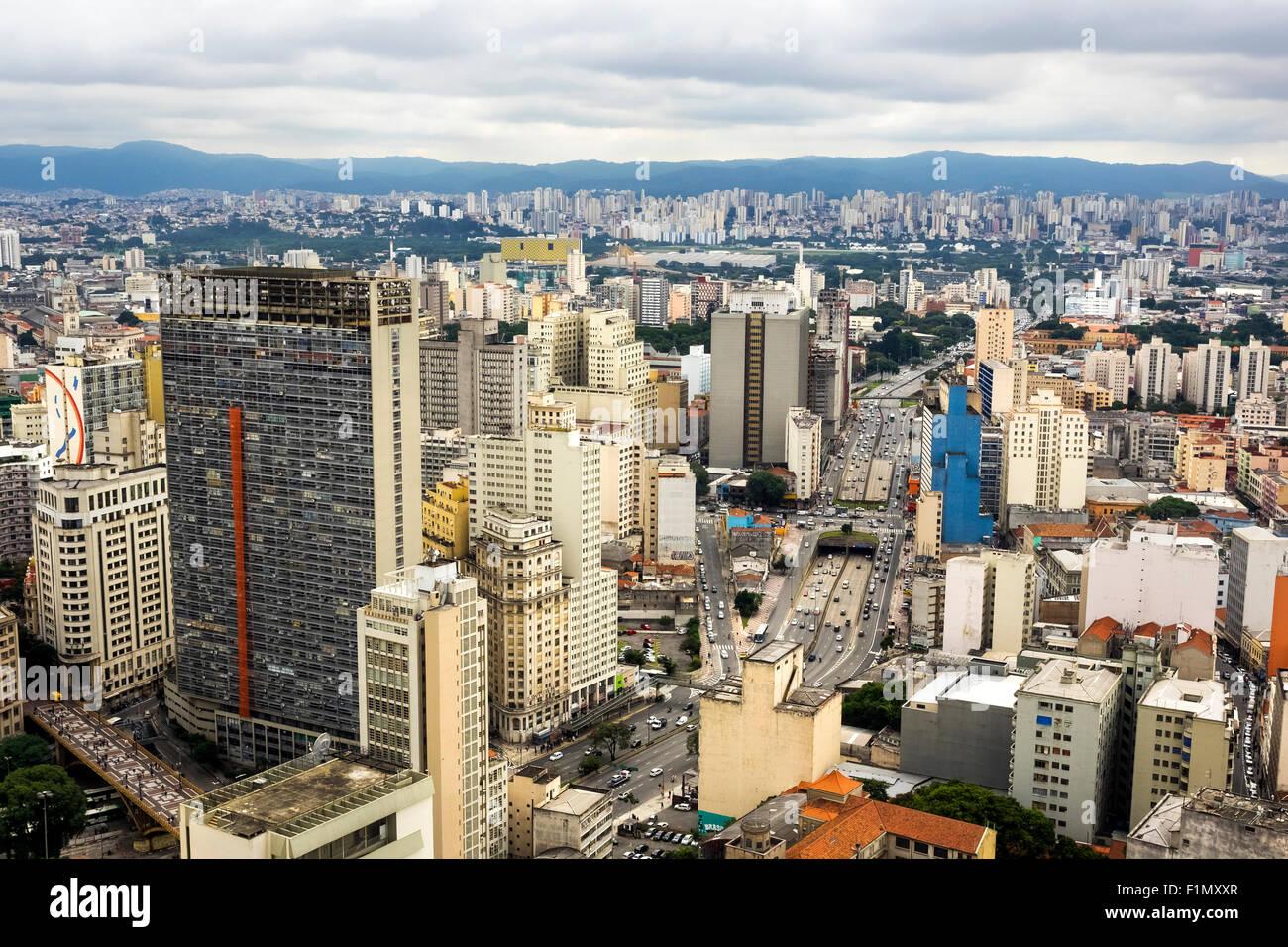 Vista aerea di Sao Paulo cityscape, Brasile. Immagini Stock