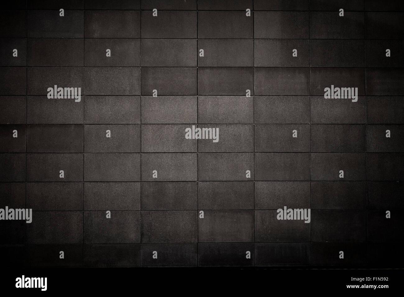 Piastrelle nere modello di griglia di sfondo foto & immagine stock
