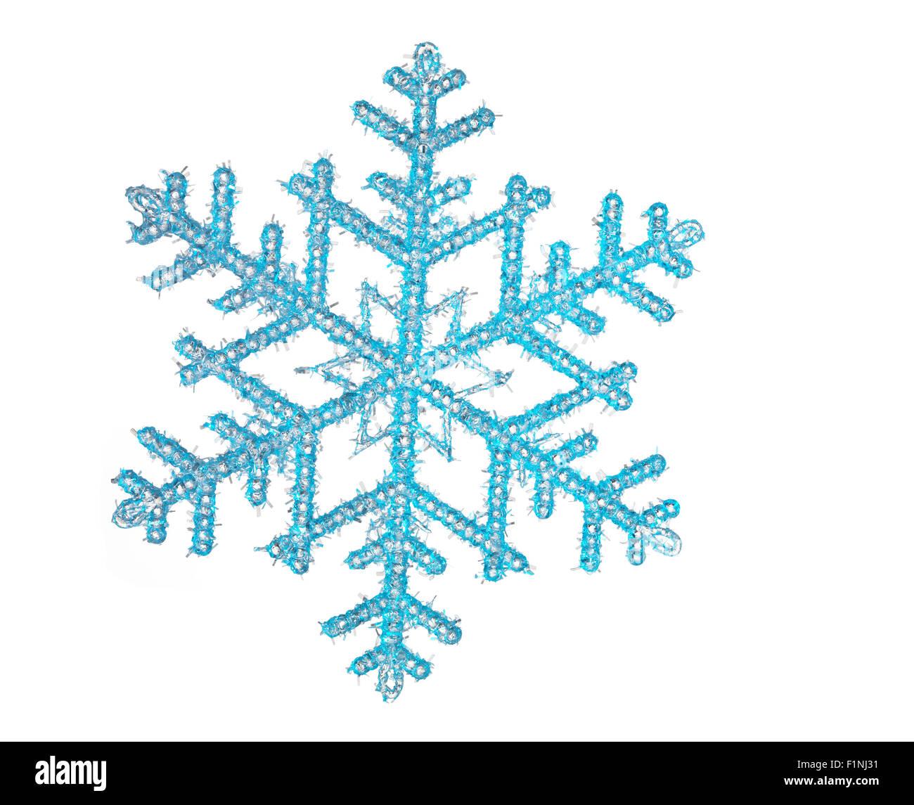 Il simbolo del fiocco di neve con uno sfondo bianco Immagini Stock