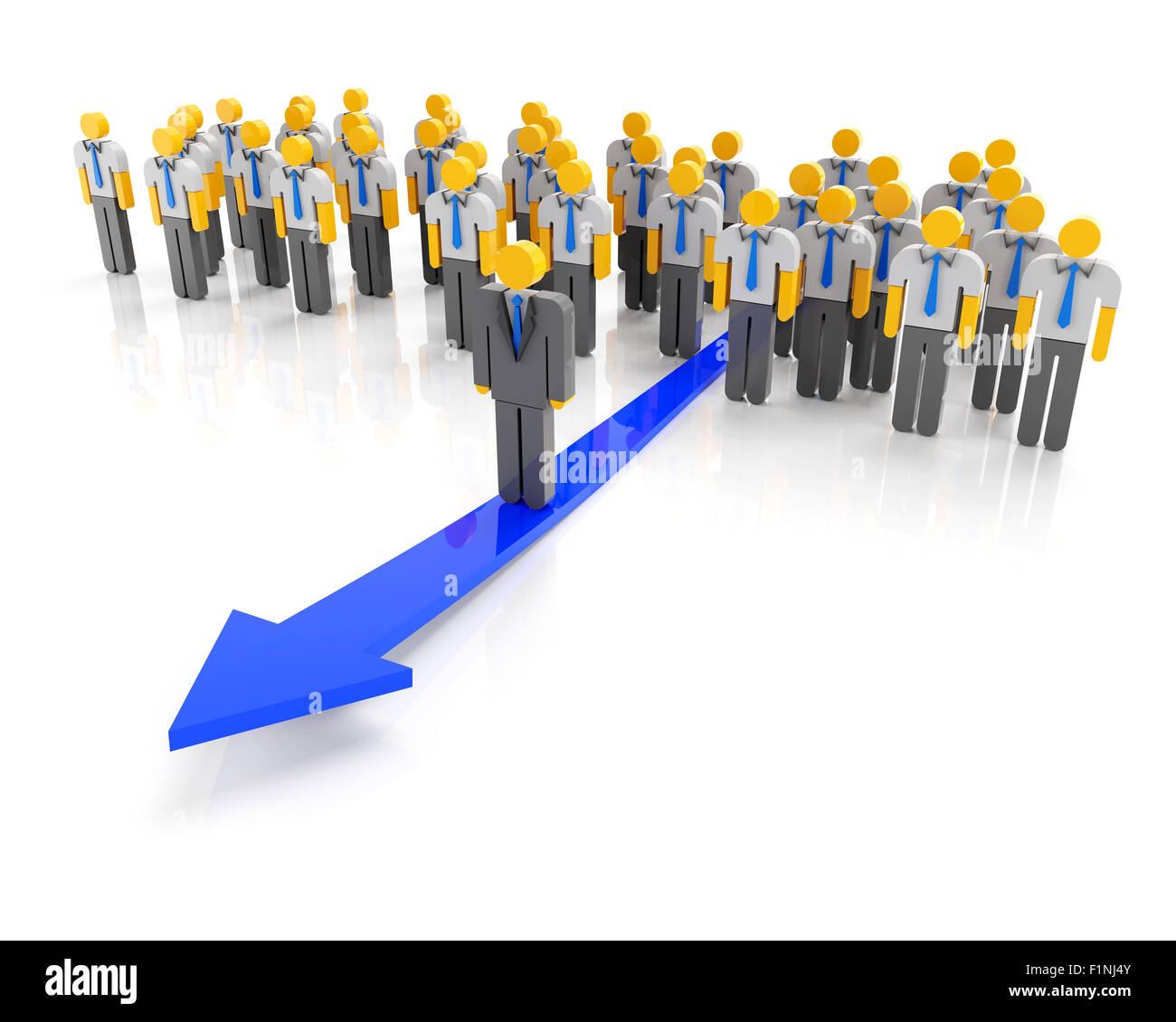 La leadership aziendale e direzione Immagini Stock