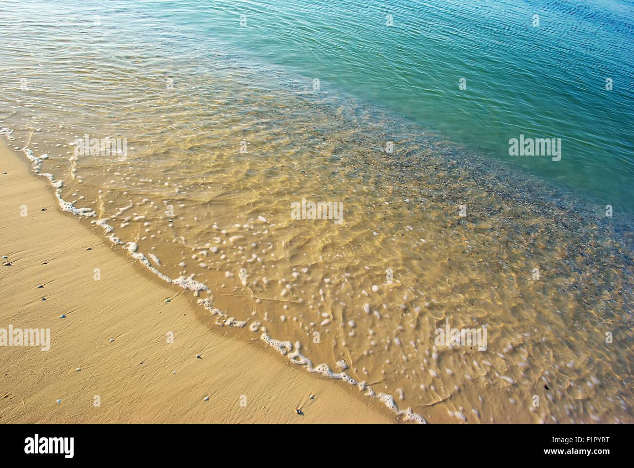 Bella Riva Del Mare Sfondo Di Spiaggia Vista Superiore Foto