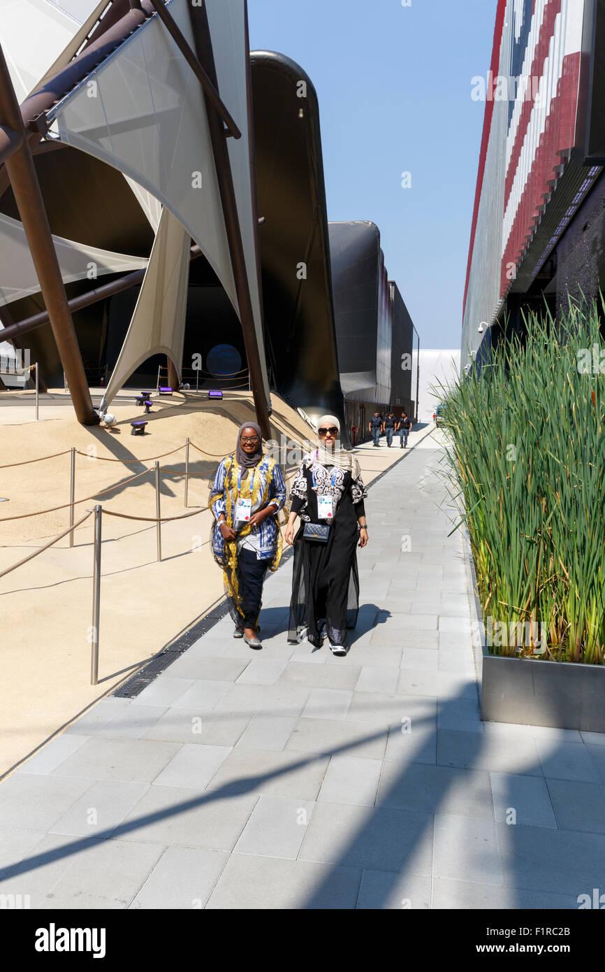 Milano, 12 agosto 2015: dettaglio del Kuwait pavilion alla fiera Expo 2015 Italia. Immagini Stock