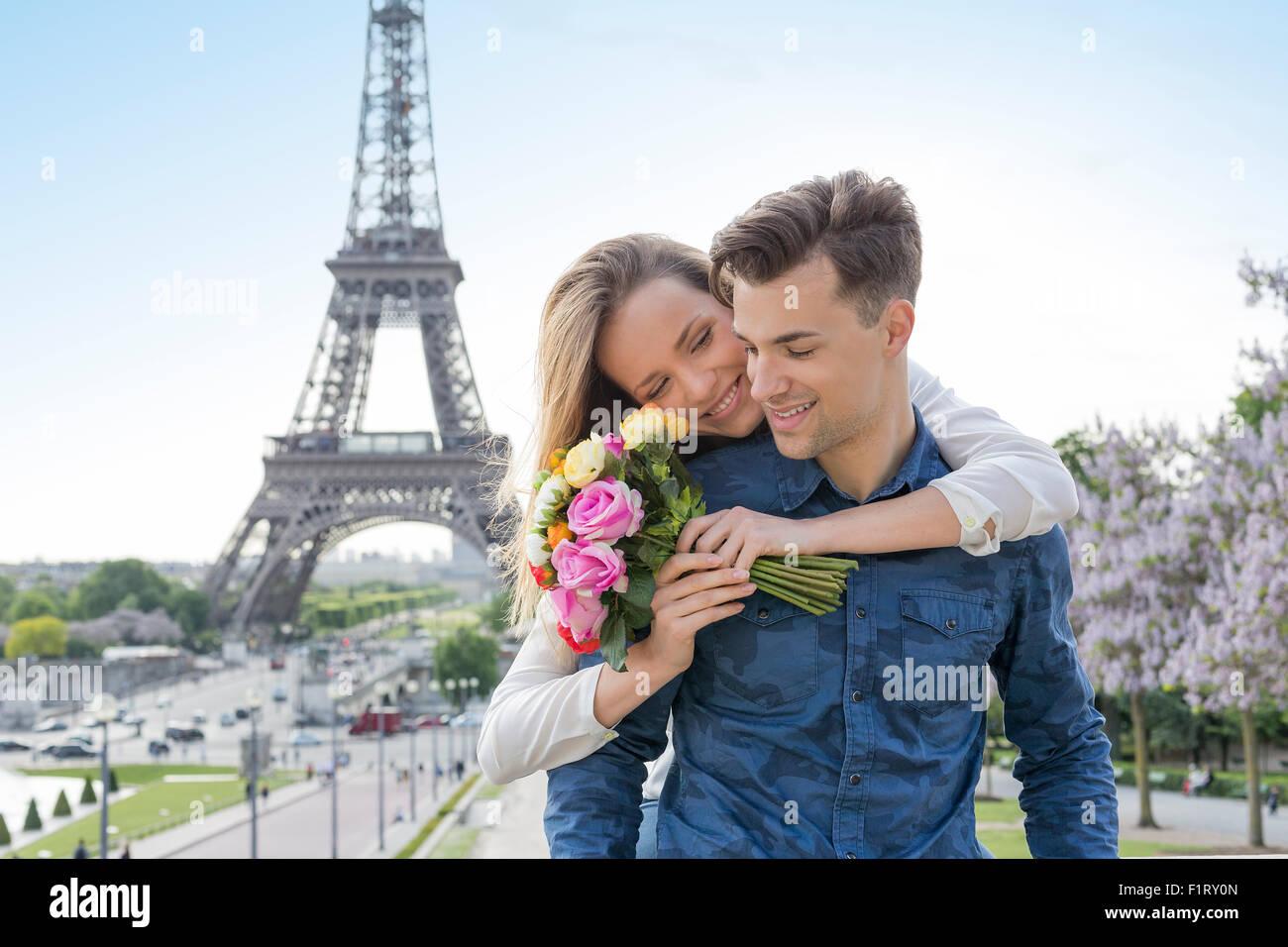 Paio di Incontri in Paris Immagini Stock