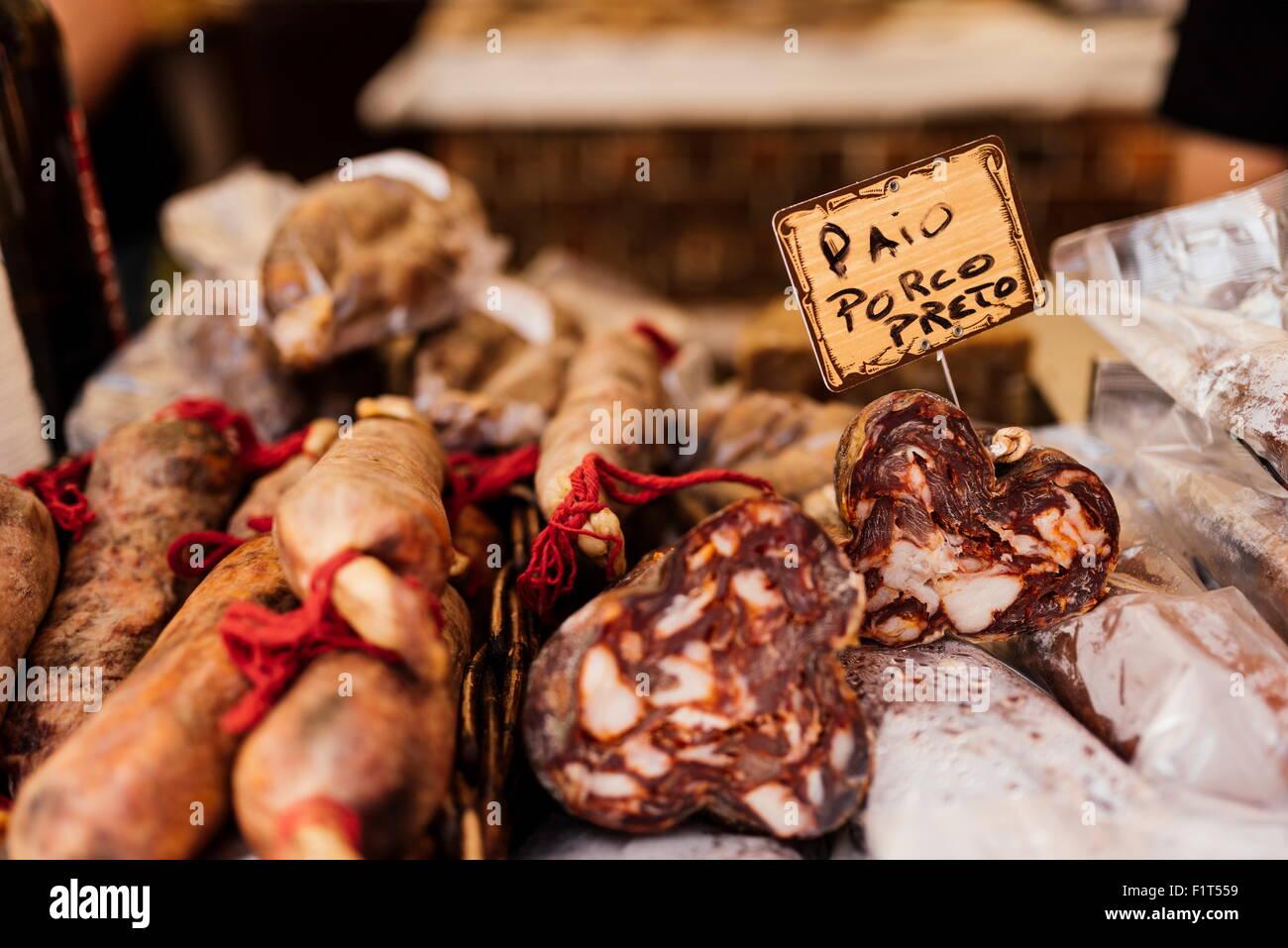 Chorico, Praca do Rossio, Lisbona, Portogallo, Europa Foto Stock