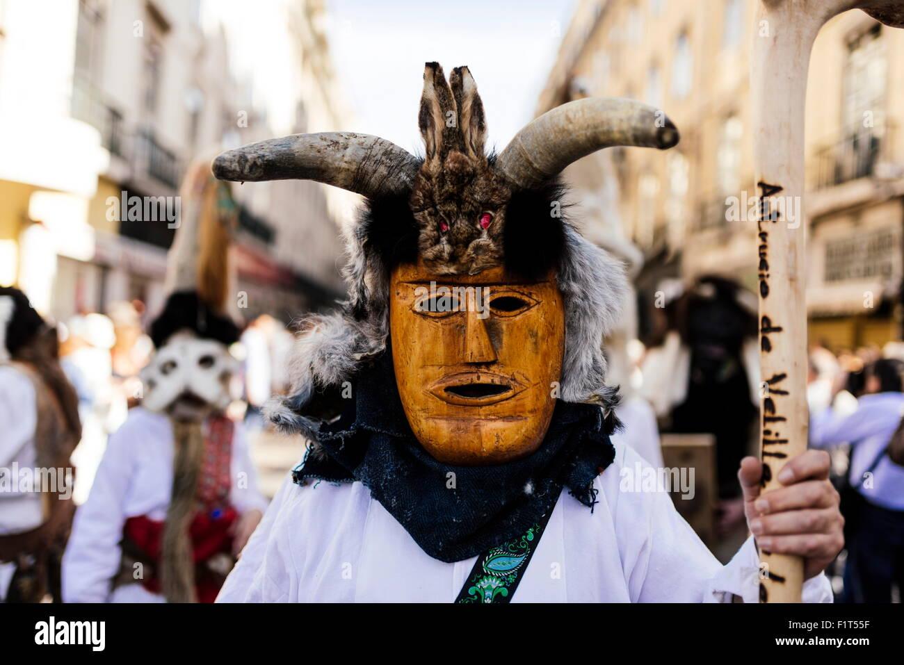 Festival internazionale maschera iberica, Lisbona, Portogallo, Europa Immagini Stock