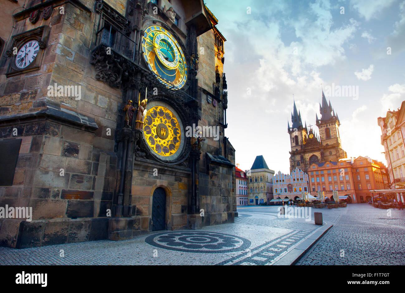 La Piazza della Città Vecchia di Praga, Repubblica Ceca Immagini Stock
