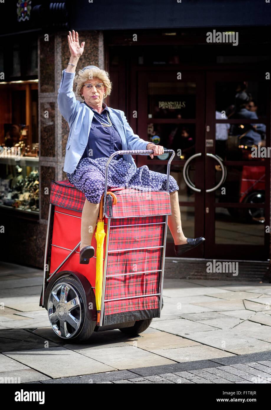 Turismo di nonna Immagini Stock