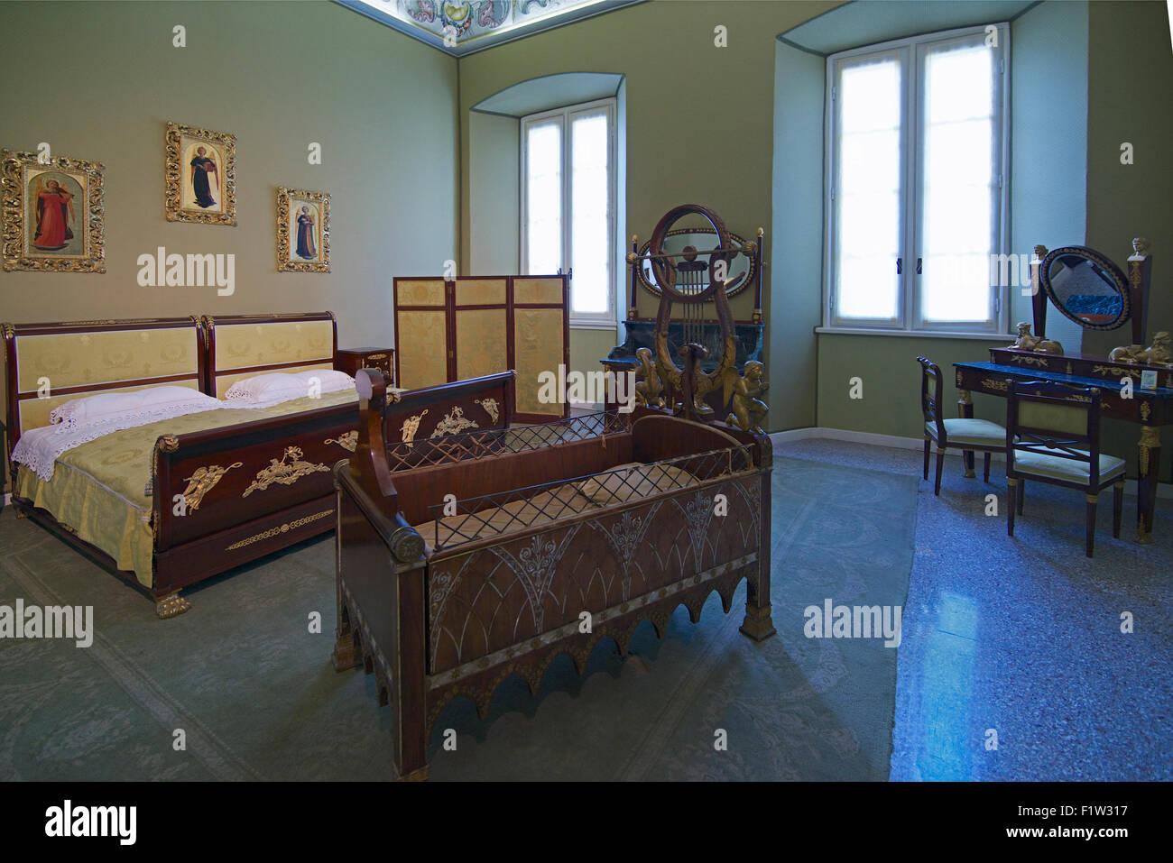 Camera da letto Villa Carlotta Lago di Como lombardia italia Foto ...