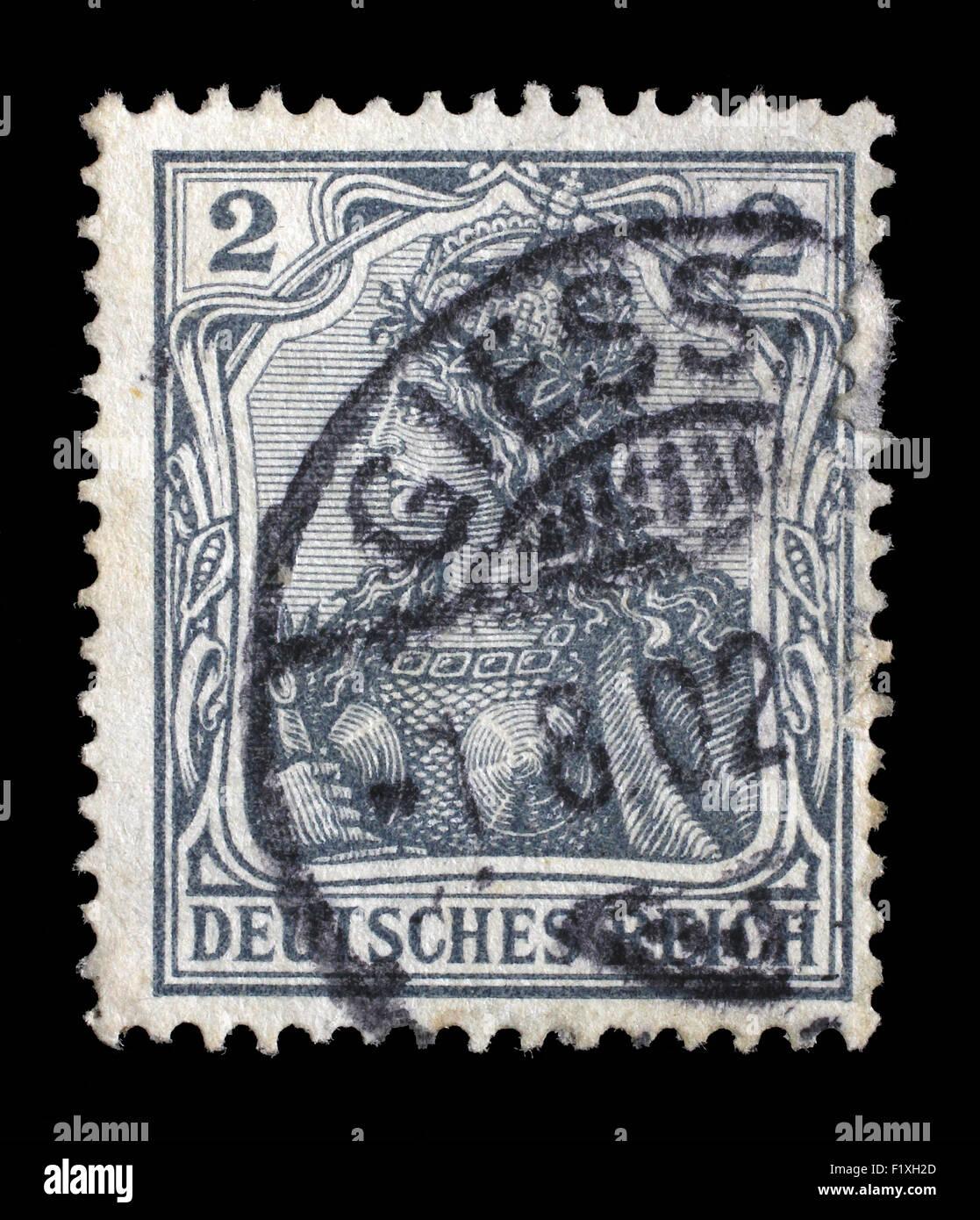 Timbro stampato in Germania mostra Germania (Allegoria, personificazione della Germania), senza iscrizione, circa Immagini Stock