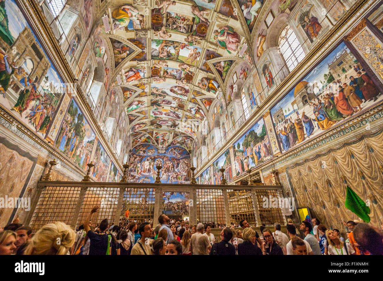 Palazzo Visitatori Nella Del Apostolico Cappella Sistina Turisti E F3Jc1TlK