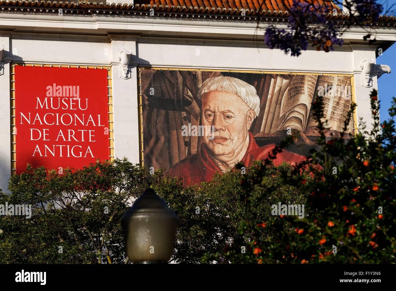 Il Portogallo, Lisbona, Lapa, Museu National de Arte Antiga Immagini Stock
