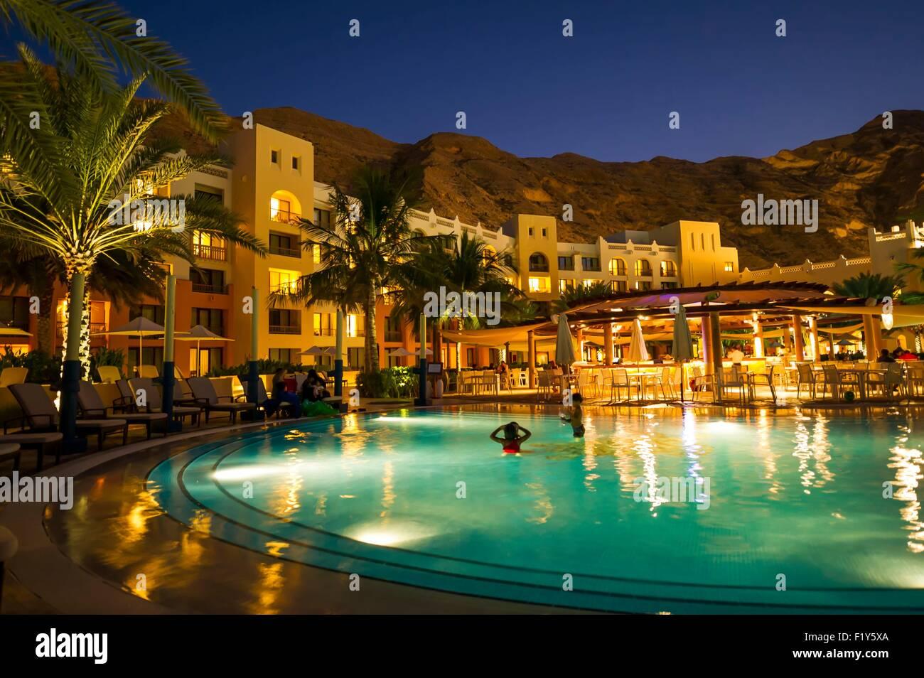Oman, Moscato, Barr Al Jissah Resort, Shangri La Hotel Immagini Stock