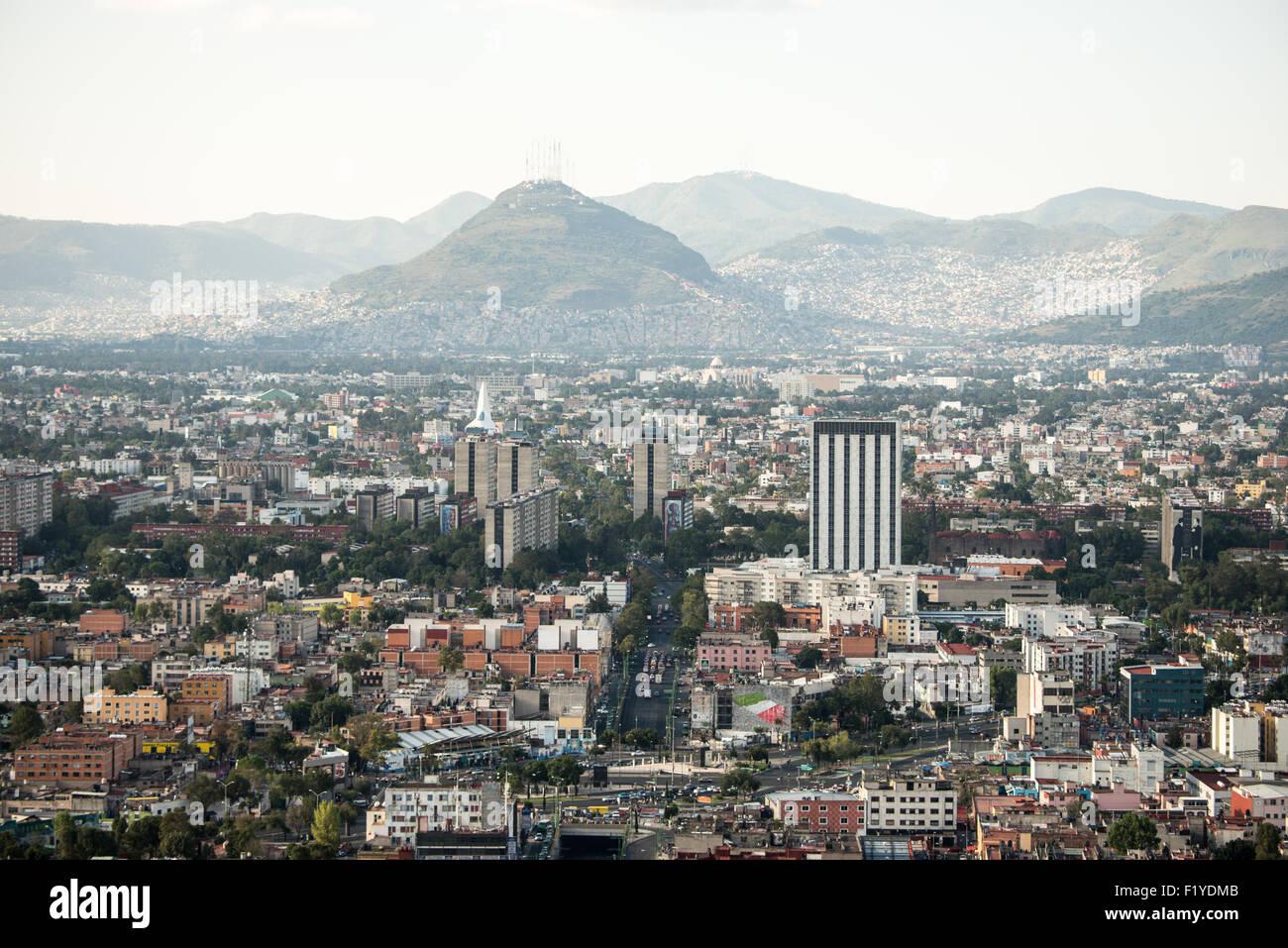 Vista di Città del Messico dal 44° piano della Torre Latinoamericana edificio. Immagini Stock