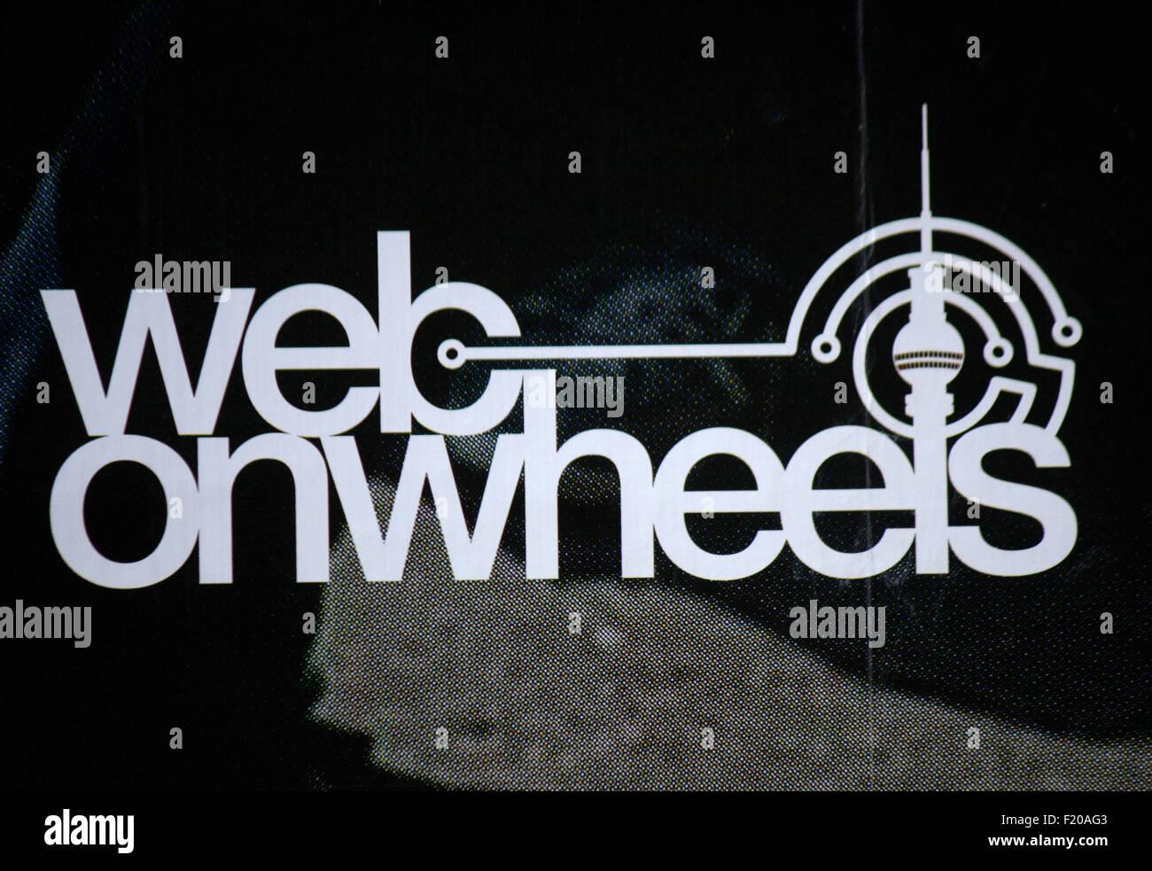 Markenname: 'Web su ruote', Berlino. Immagini Stock